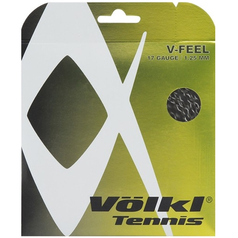 Volkl V- Feel 17 Tennis String Set Black
