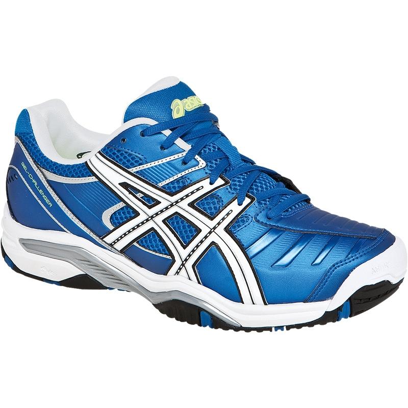 asics gel challenger 9 s tennis shoes blue white black