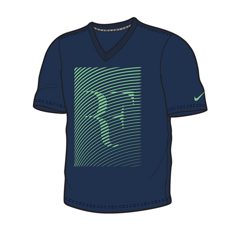 Nike Rf Ss Trophy Ss V- Neck Men's Tennis Shirt