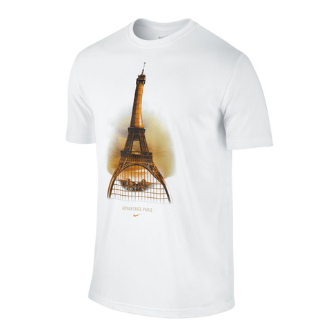 Nike Advantage Paris Ss Men's Tennis Shirt