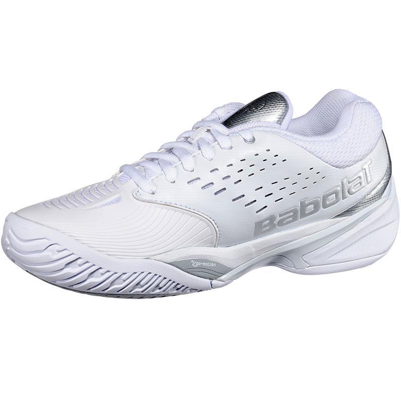 babolat sfx s tennis shoe white silver