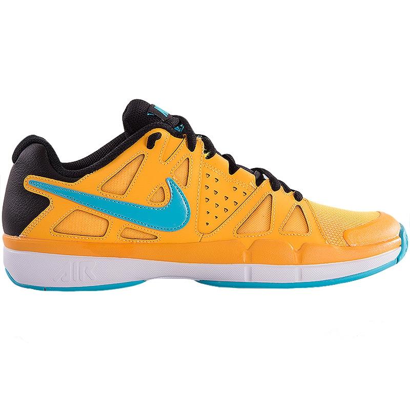 nike air vapor advantage s tennis shoe orange blue