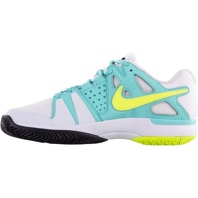 nike air vapor advantage s tennis shoe white volt