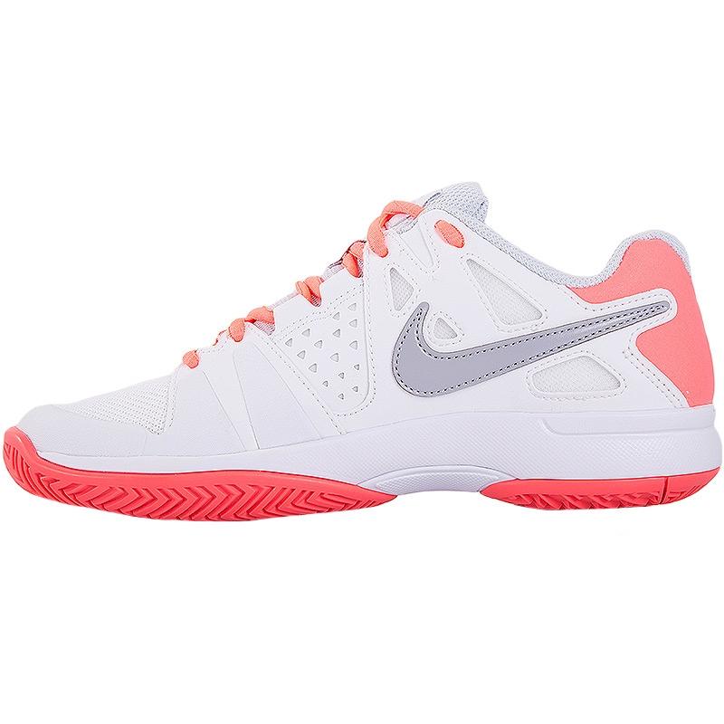 nike air vapor advantage s tennis shoe white hotlava