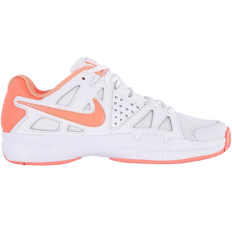 nike air vapor advantage s tennis shoe white orange