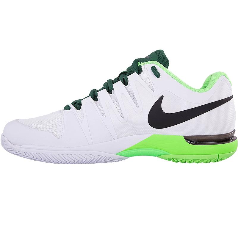 nike zoom vapor 9 5 tour s tennis shoe white green