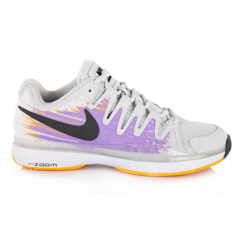 nike zoom vapor 9 5 tour s tennis shoe grey lilac mango