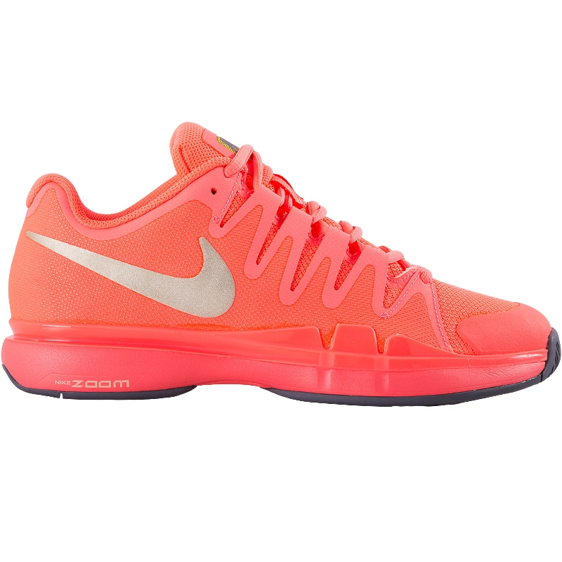 nike zoom vapor 9 5 tour s tennis shoe hotlava grey