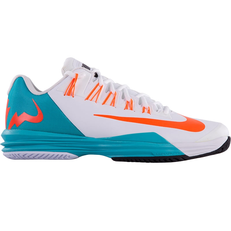 nike lunar ballistec s tennis shoe white turquoise oran