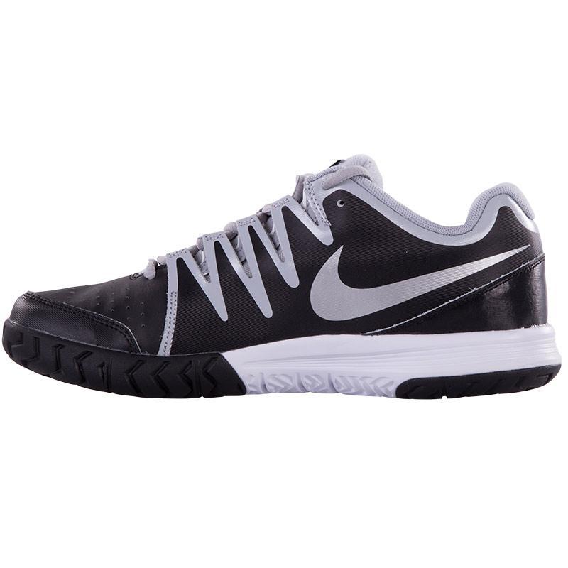 nike vapor court s tennis shoe black white silver