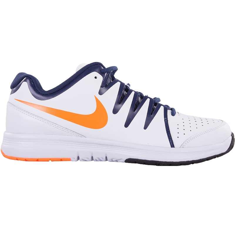nike air vapor court s tennis shoe white navy orange