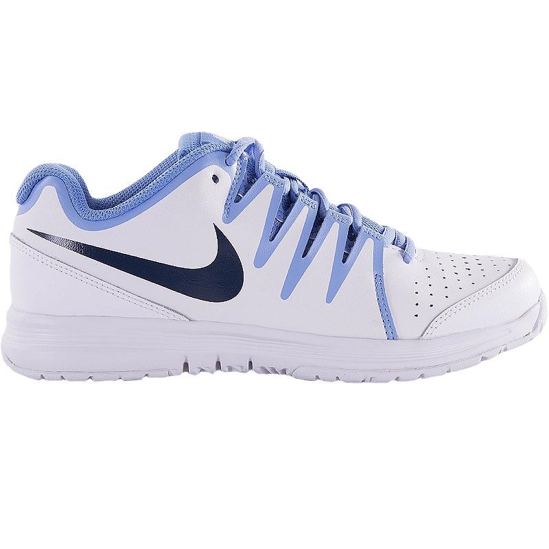nike vapor court s tennis shoe white blue
