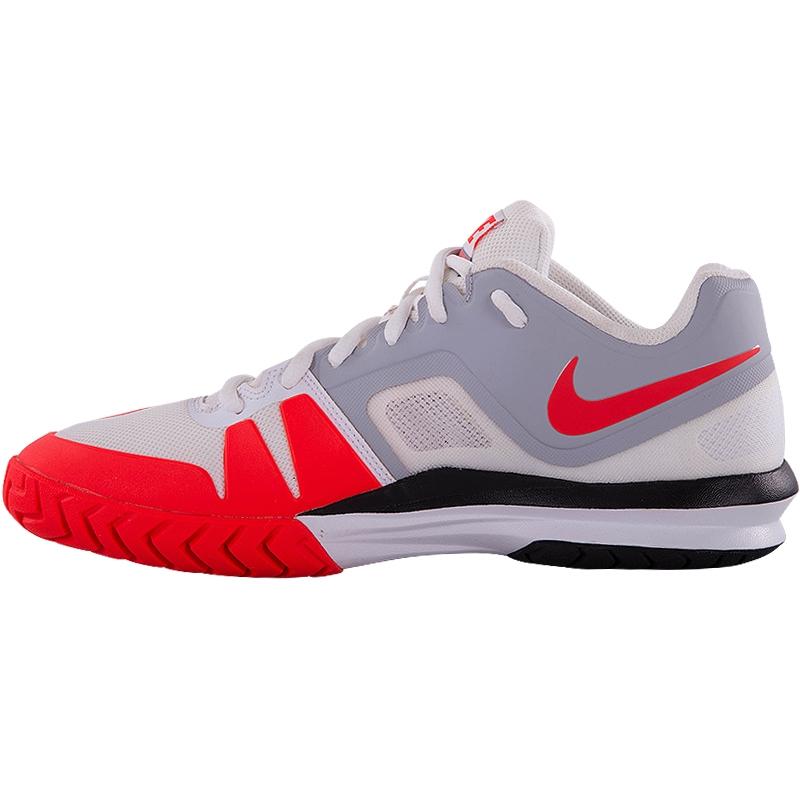 nike ballistec advantage s tennis shoe white crimson