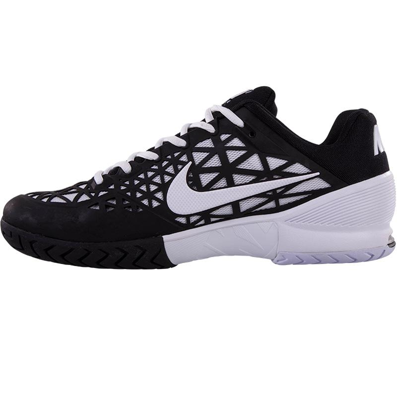 nike zoom cage 2 s tennis shoe black white