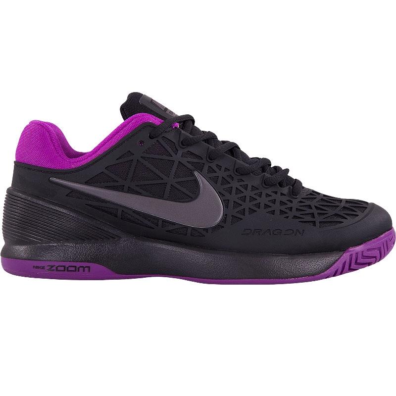 nike zoom cage 2 s tennis shoe black purple