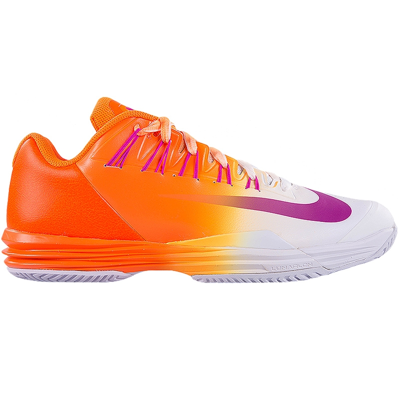 nike lunar ballistec 1 5 s tennis shoe orange white pink