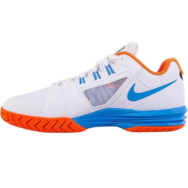 nike lunar ballistec 1 5 s tennis shoe white orange blue