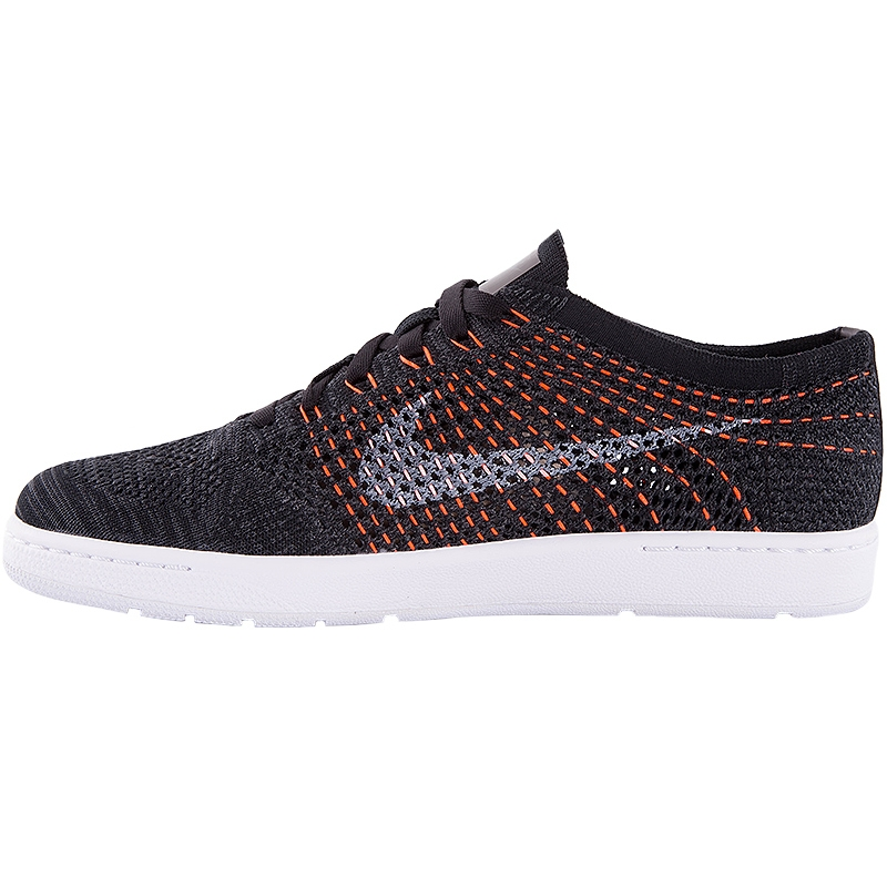 nike classic ultra flyknit s tennis shoe black white