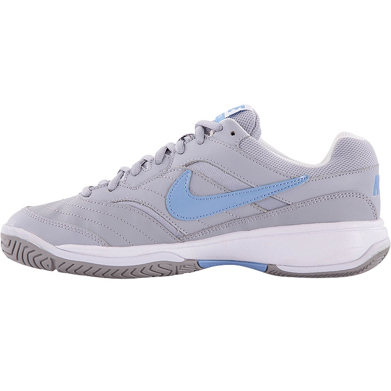nike court lite s tennis shoe grey blue