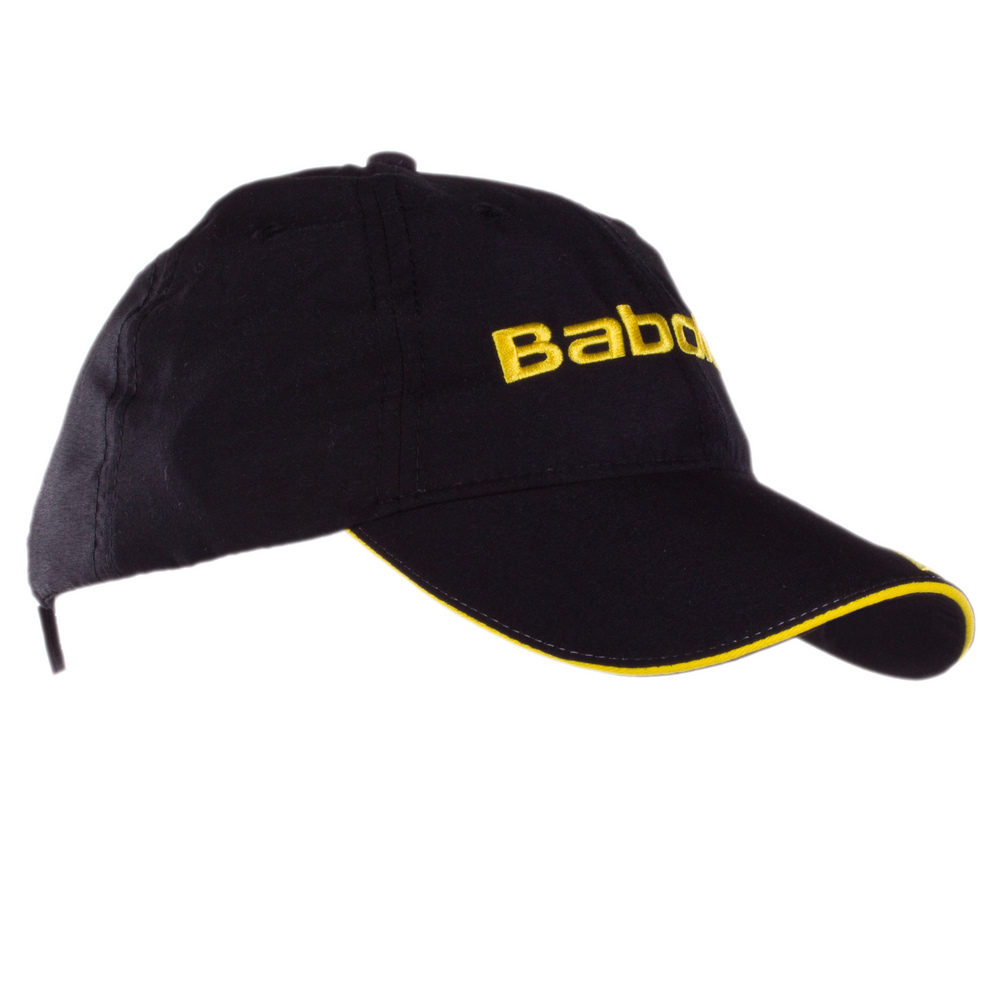 babolat microfiber tennis hat blackyellow