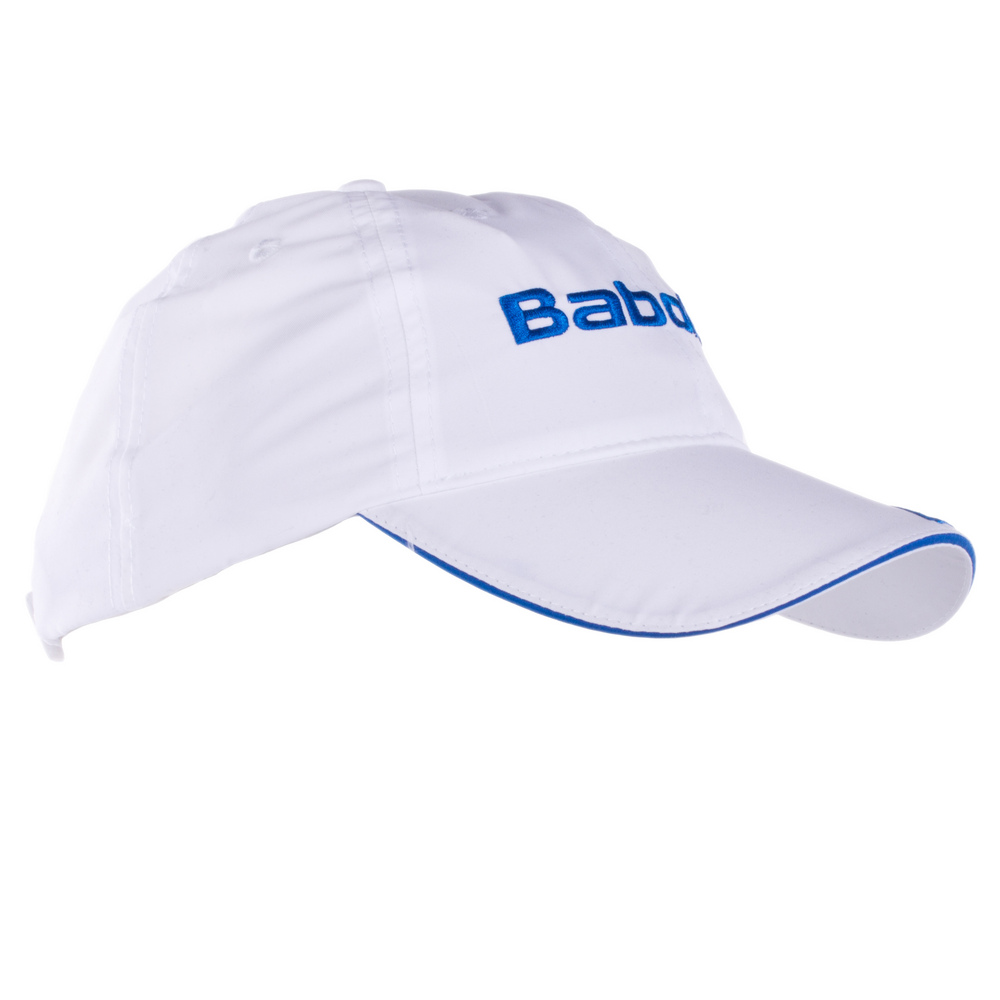 580606e7999 Babolat Microfiber Tennis Hat White blue