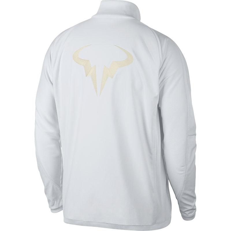 f17ad29ec292 Nike Rafa Premier Men s Tennis Jacket White metallicgold