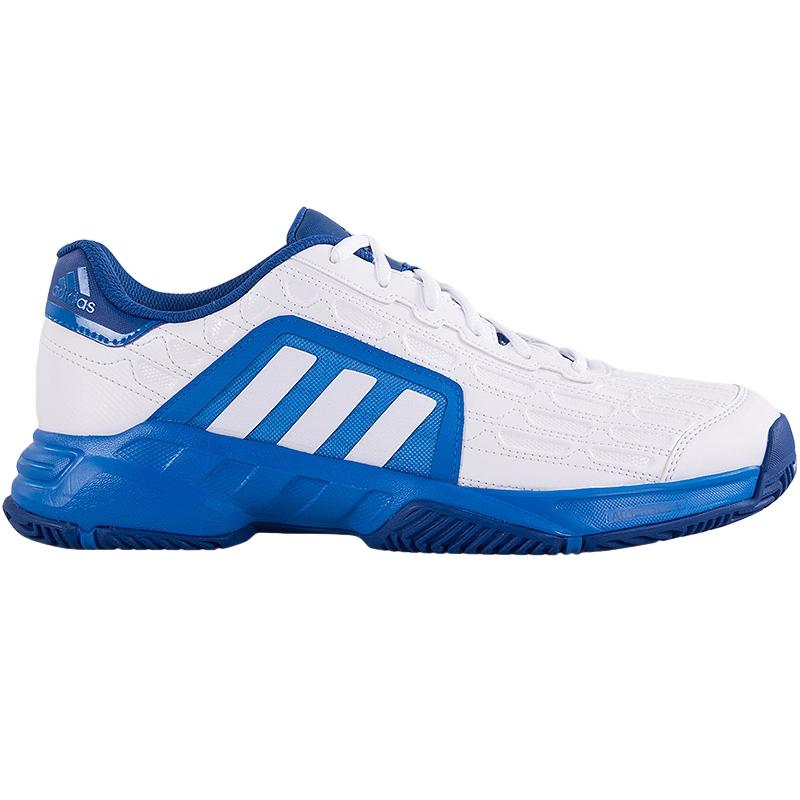 adidas barricade court 2 s tennis shoe white blue