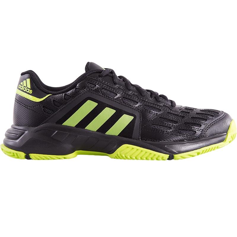 adidas barricade court s tennis shoe black lime