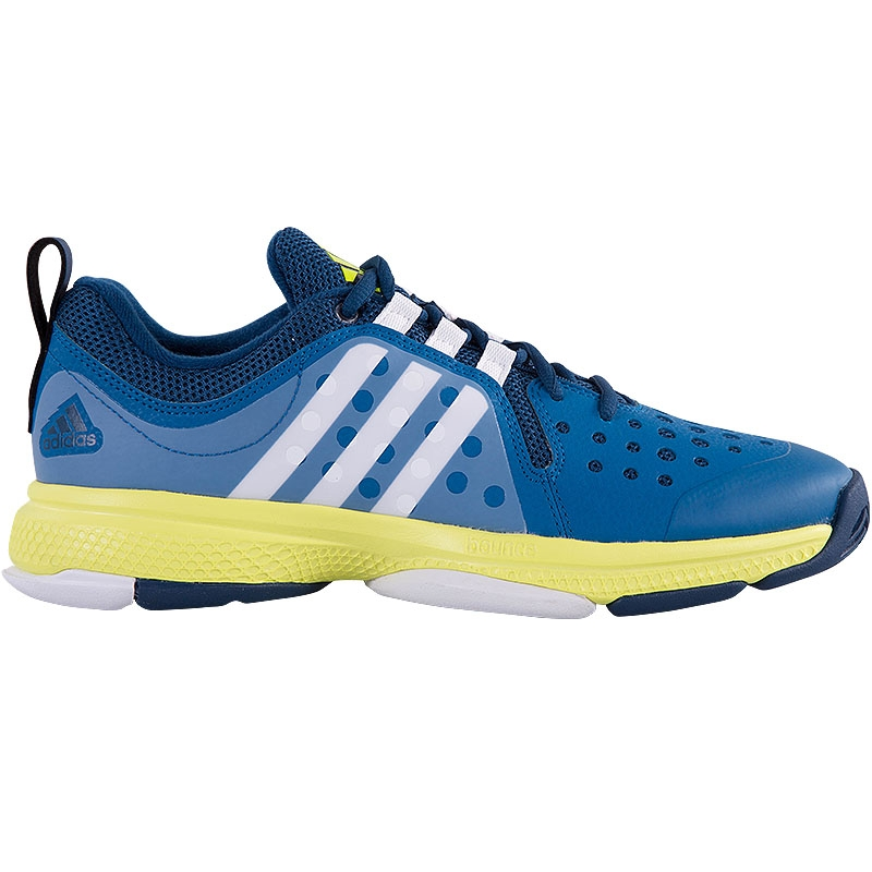 adidas barricade classic bounce s tennis shoe blue yellow