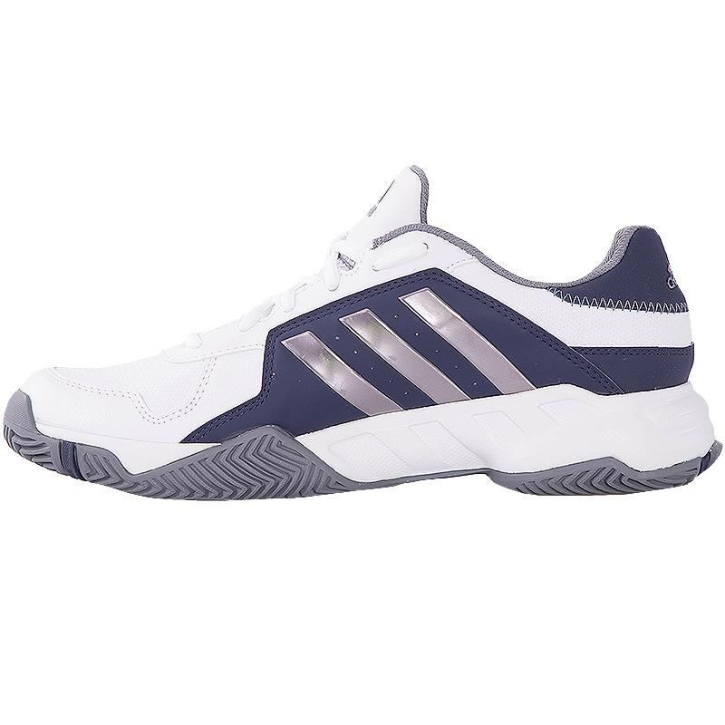 adidas barricade court s tennis shoe white grey