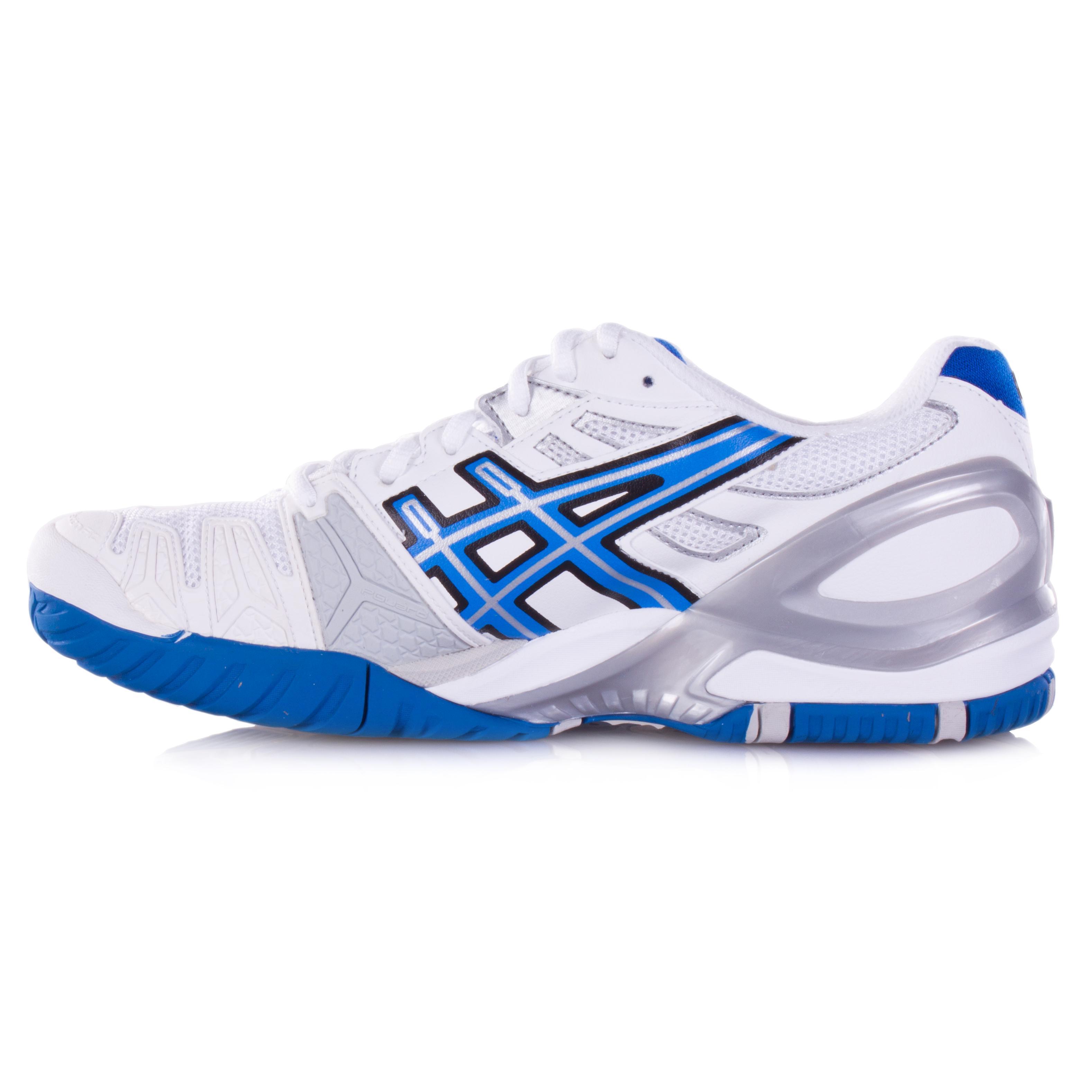 asics gel resolution 5 s tennis shoes white blue lightning