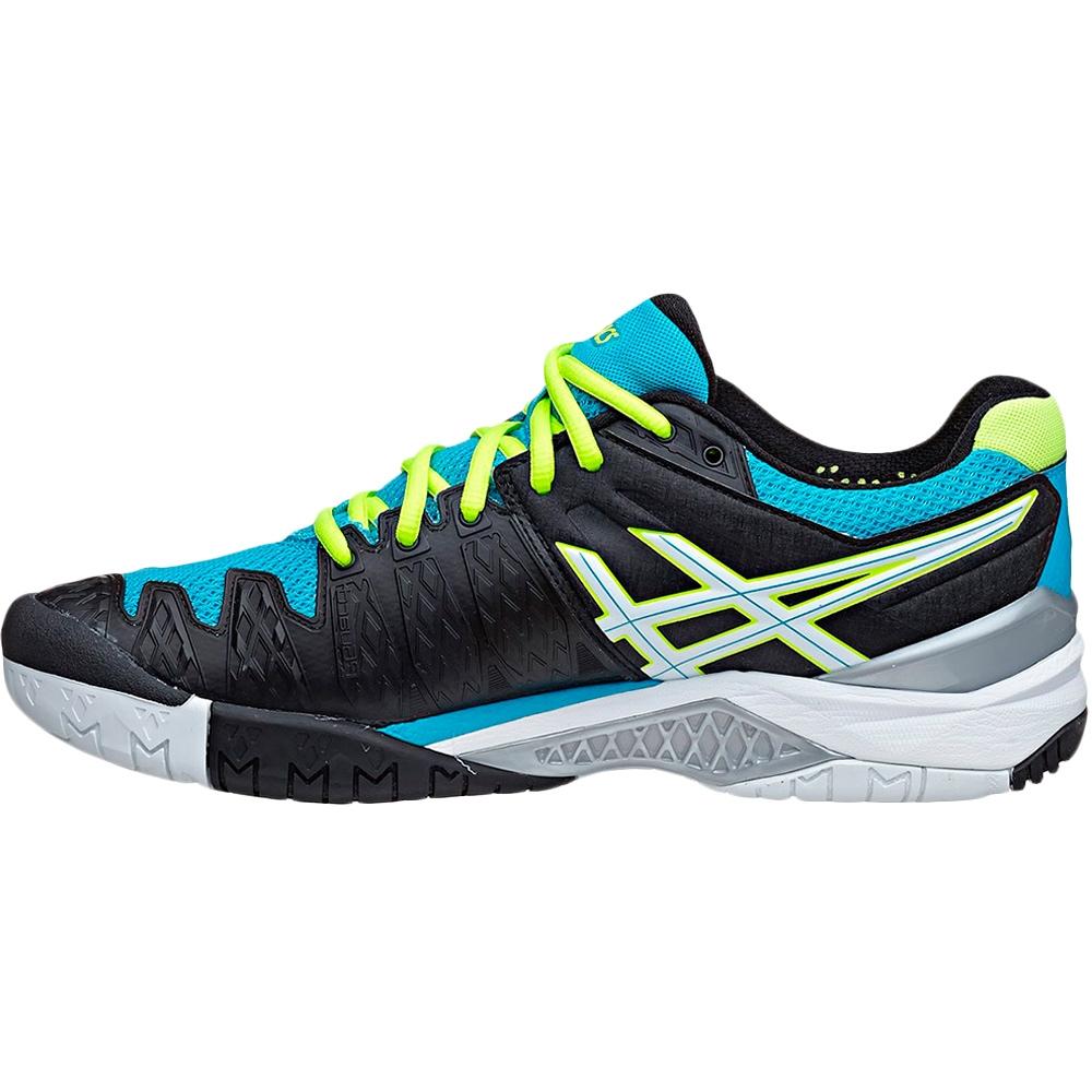 asics gel resolution 6 junior tennis shoe onyx blue