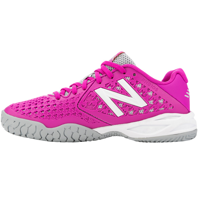 new balance 996 pink/blue junior shoe