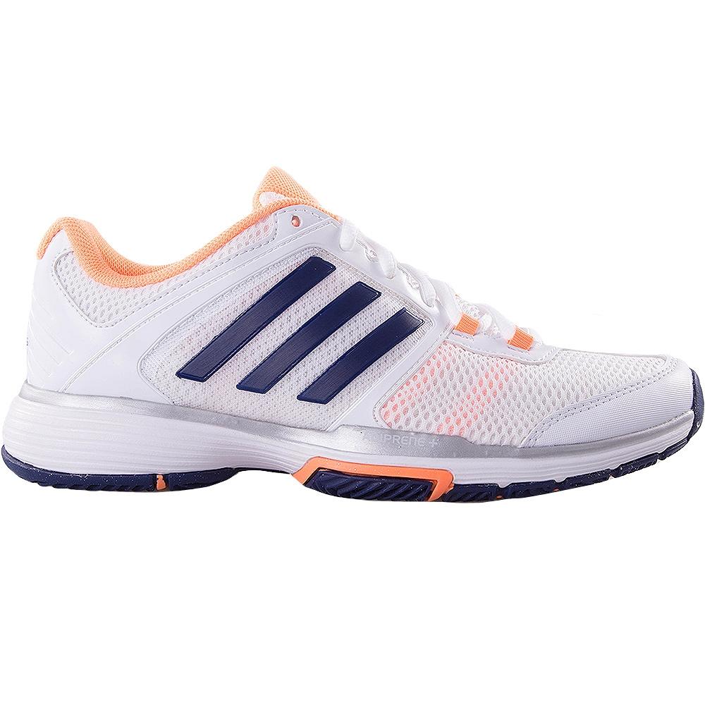 adidas barricade team 4 s tennis shoe white blue orange