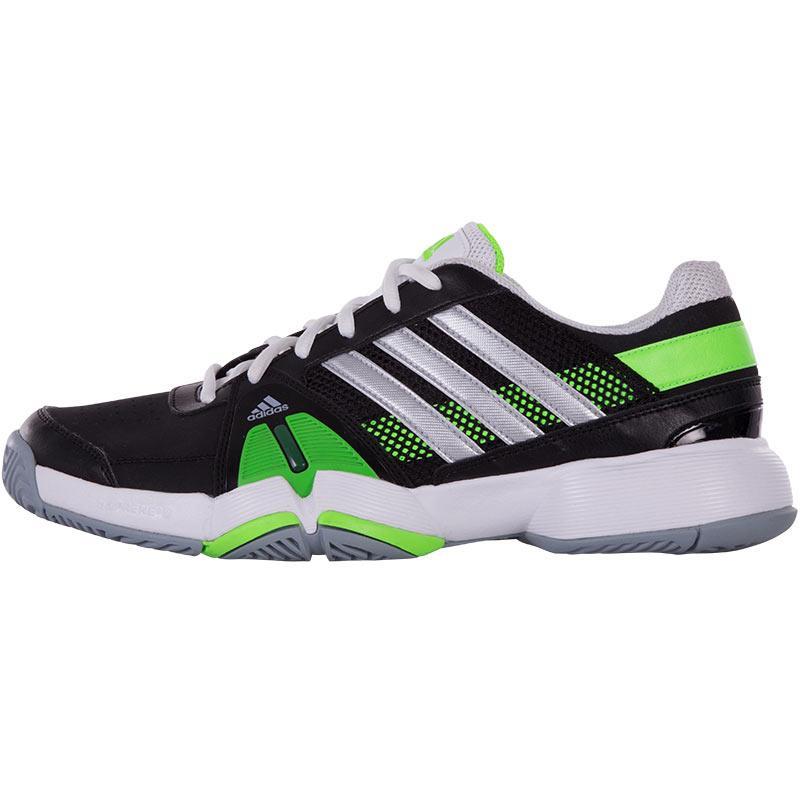 adidas barricade team 3 s tennis shoe black silver green