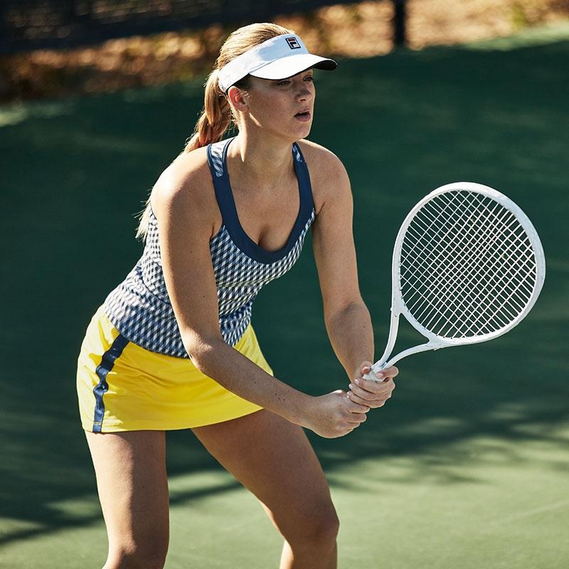 e0ae416f7c Fila Argyle Team 13.5 Women's Tennis Skort Aurora/navy