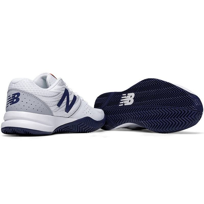 new balance wc 786 d wide s tennis shoe white navy