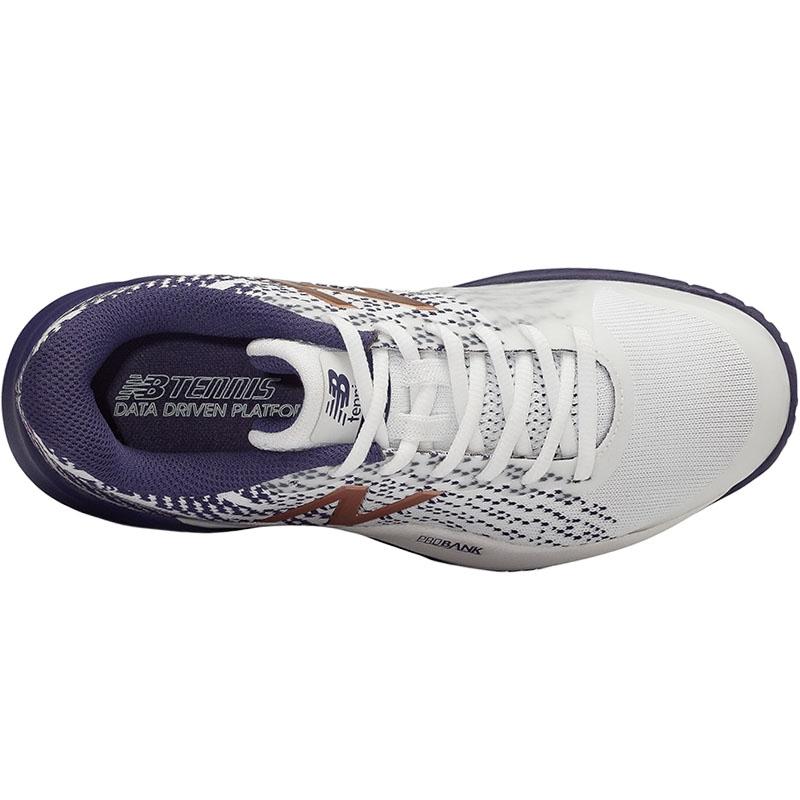 new style b28d3 220ea New Balance WC 996v3 B Women s Tennis Shoe White indigo