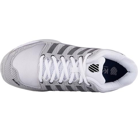 K Swiss Hypercourt Express Men S Tennis Shoe Grey White