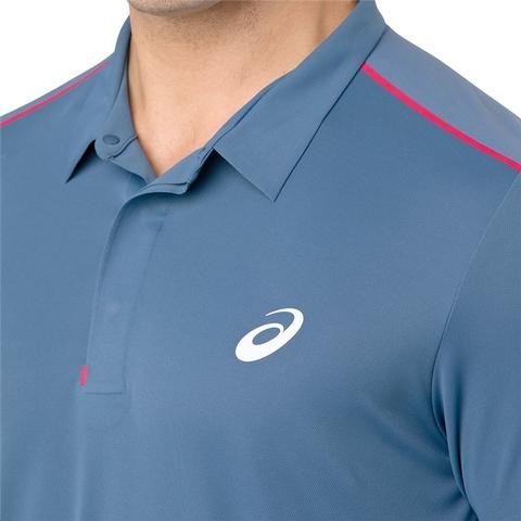 936b6135d Asics Gel Cool Performance Men's Tennis Polo Azure