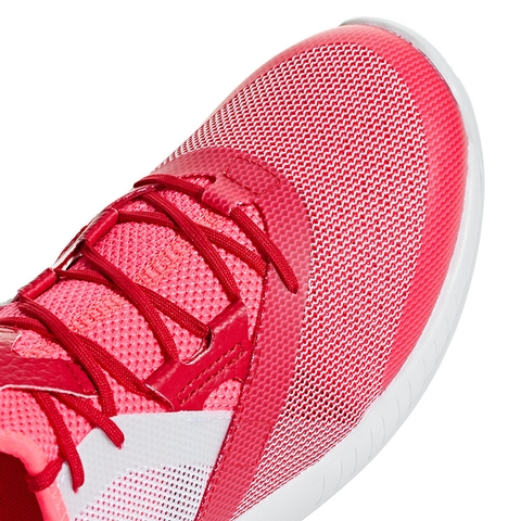 67ac135d69547 Adidas Adizero Defiant Bounce Women s Tennis Shoe Red white