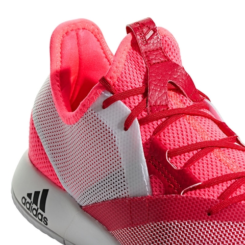 6915a62b868ae1 Adidas Adizero Defiant Bounce Women s Tennis Shoe Red white