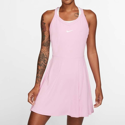 Nike Court Dry Women S Tennis Dress Pinkrise Nike tennis skirt womens xs or medium authentic white nikecourt dri fit training. nike