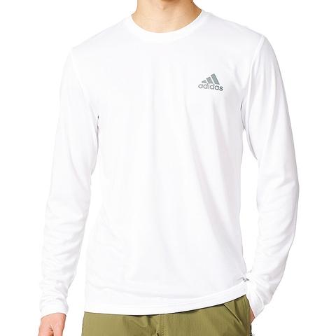 aa13027821 Adidas Essentials Tech Long Sleeve Men's Tee White