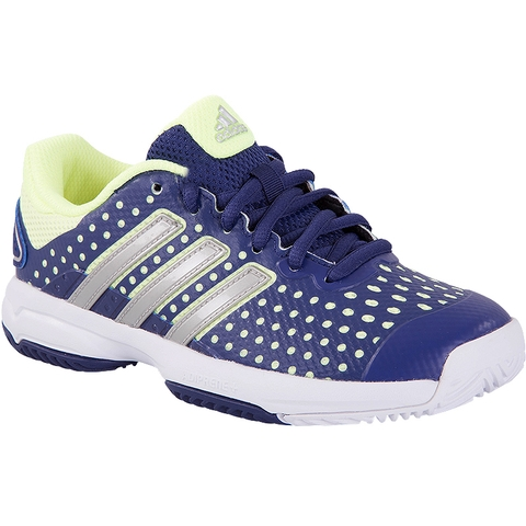 Adidas Barricade Team 4 Junior Tennis Shoe Grey/yellow