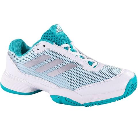 Adidas Barricade Club XJ Junior Tennis Shoe Aqua/white