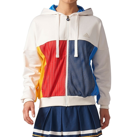 a0b75fd1db Adidas Pharrell Williams NY Women's Tennis Jacket White/blue/yellow