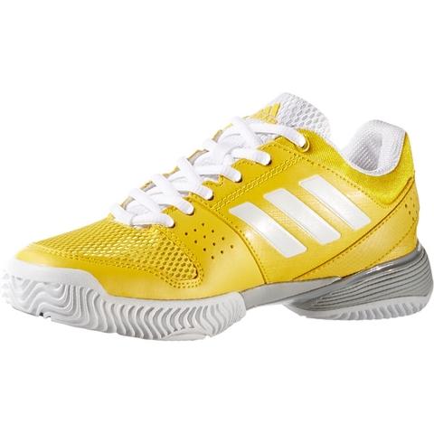 a2a225014 Adidas Barricade Club XJ Junior Tennis Shoe Yellow white