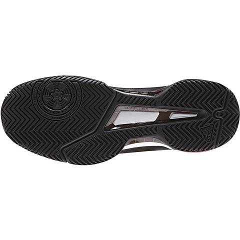 adidas barricata club uomini scarpe da tennis nero / rosso