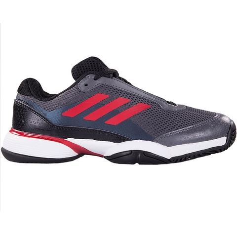 Adidas Barricade Club XJ Junior Tennis Shoe Black/red